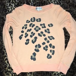 XS Wildfox Sweater with Leopard / Cheetah Spots
